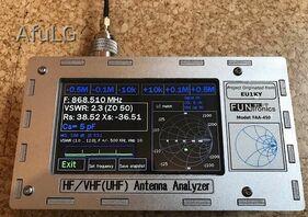 Antennen Analyser nach EU1KY 0-600/1300 MHZ