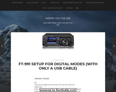 FT-991 - Beschreibung der Einstellungen für die digital Modes ( in english ) von N1RWY