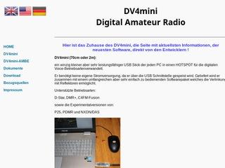 DV4mini Soft und Firmware sowie Dokumentation - Deutschland